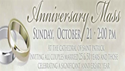 Wedding Anniversary Mass -October 21st