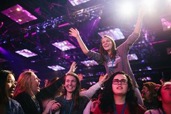 17,000 Young Adults Transform Convention Center into a Worship Center