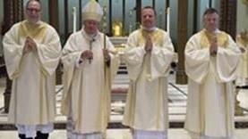Bishop Ordains Three Permanent Deacons