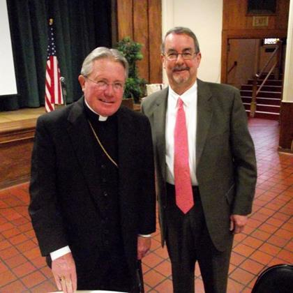 Bishop Cote & Dr. Frank Maletz