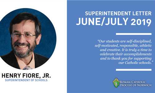 Superintendent's Letter: Congratulations to our graduating Classes of 2019