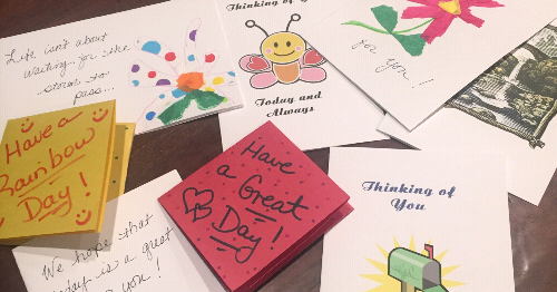 Office of Faith Events Makes Cards for Convalescent Care Facilities