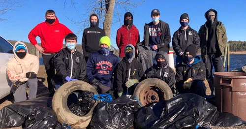 Caring for the Environment: Xavier Students Pick Up 450 Pounds of Trash