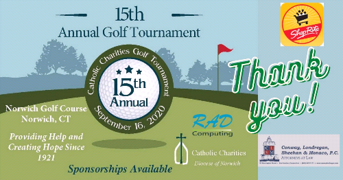 Thank You to Catholic Charities 15th Annual Golf Tournament Sponsors!