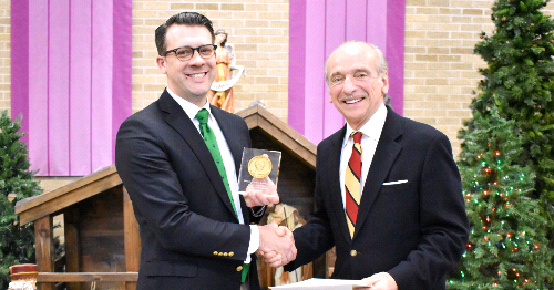 Saint Bernard Theology Teacher is Ryken Award Winner
