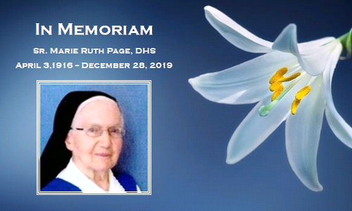 In Memoriam: Sister Marie Ruth Page