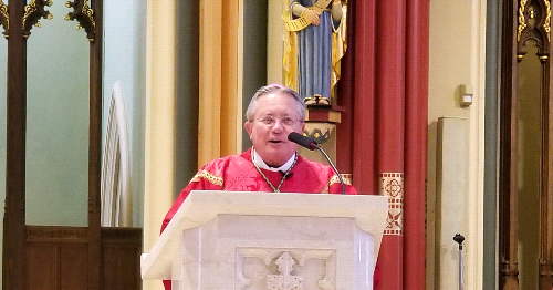 Bishop Cote Shares a Timely Palm Sunday Homily