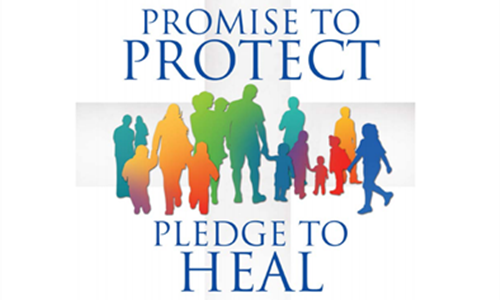 We Can Help.  Promise to Protect-Pledge to Heal